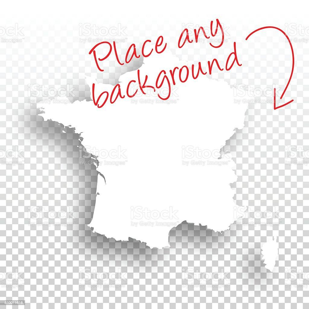 France Carte Pour Le Conception De Fond Vierge Vecteurs ...
