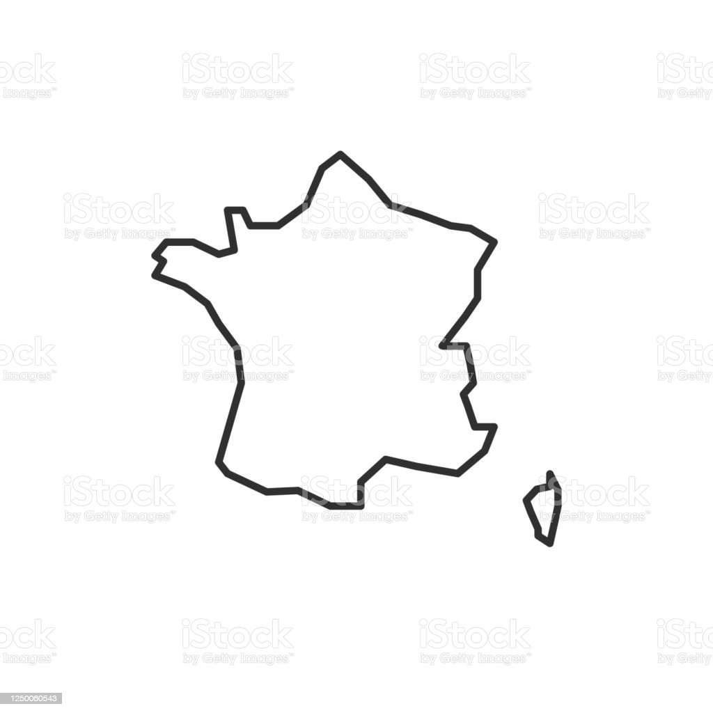 Picture of: France Map Icon Isolated On White Background France Outline Map Simple Line Icon Vector Illustration Stock Illustration Download Image Now Istock