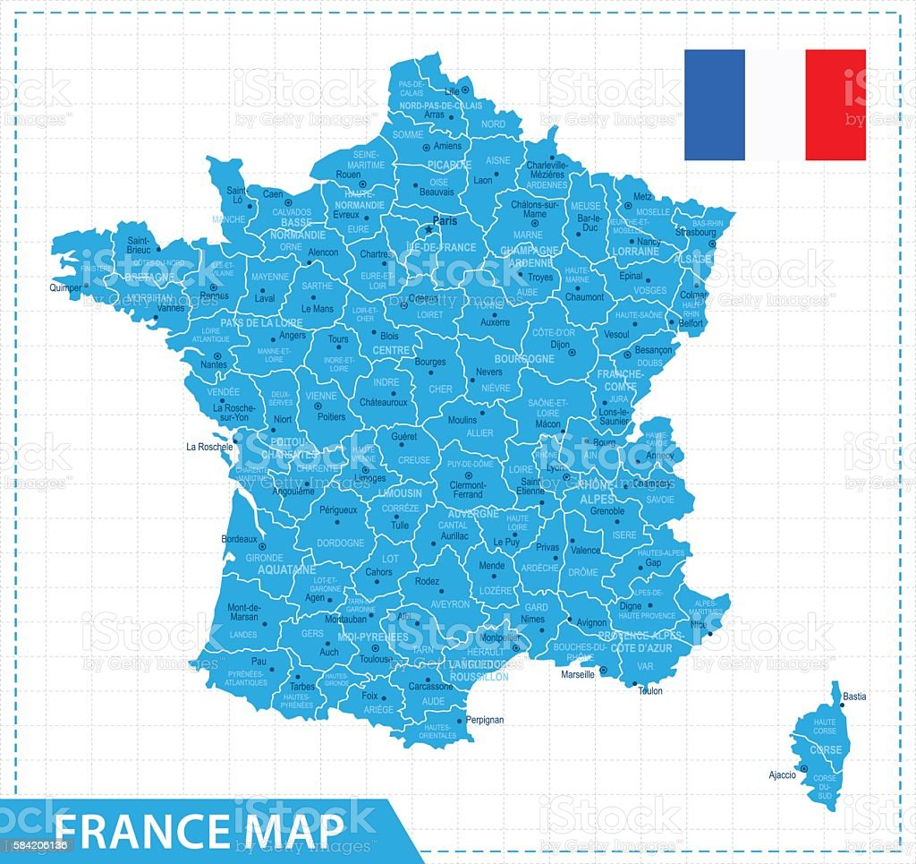 France Map - Illustration - Illustration vectorielle