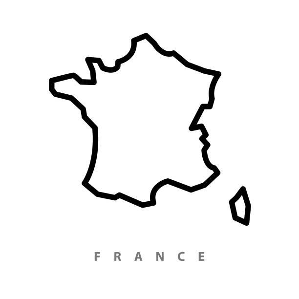 francja mapa ilustracja - francja stock illustrations