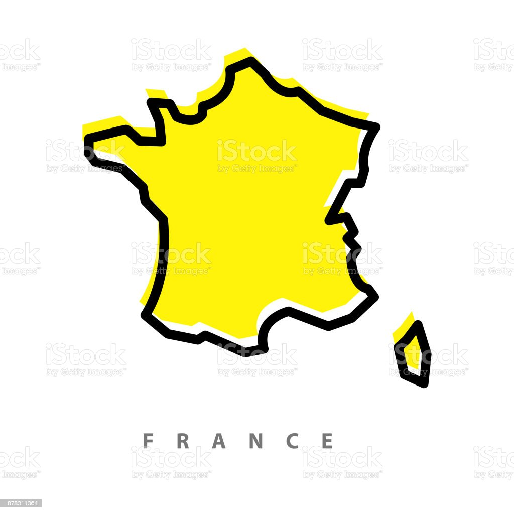 France map illustration vector art illustration