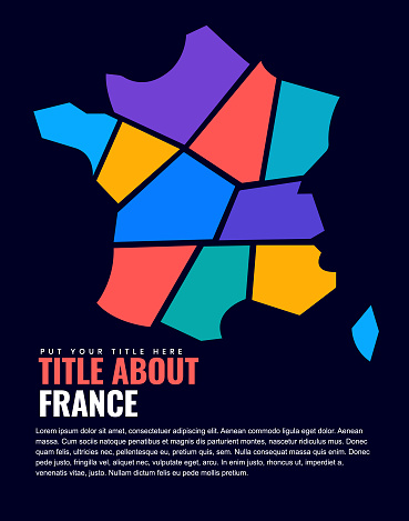 France Map on page design