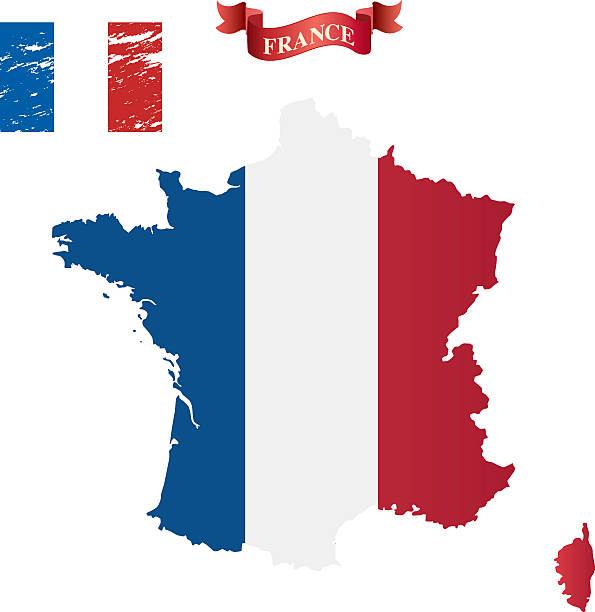 Karte von Frankreich – Vektorgrafik
