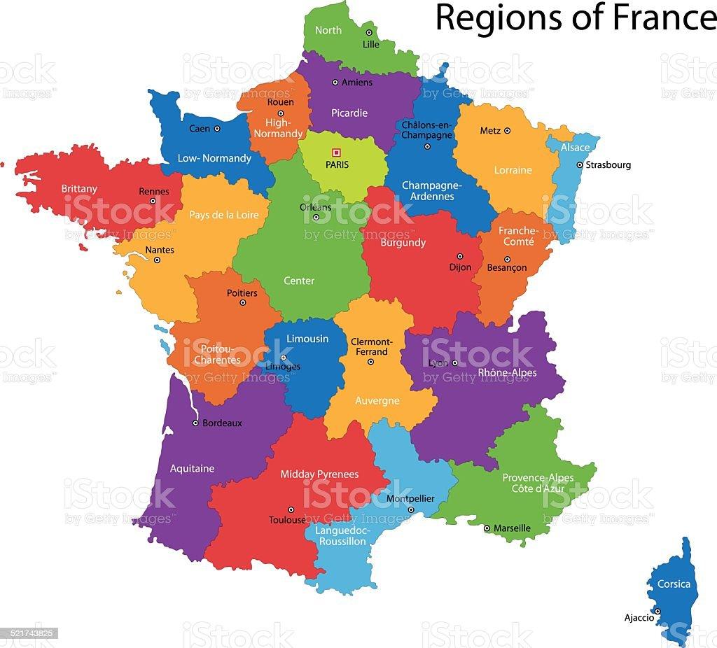 Francia Cartina Geografica.Mappa Di Francia Immagini Vettoriali Stock E Altre
