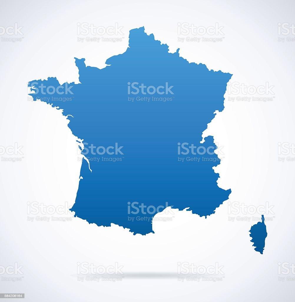 France Carte - Illustration vectorielle