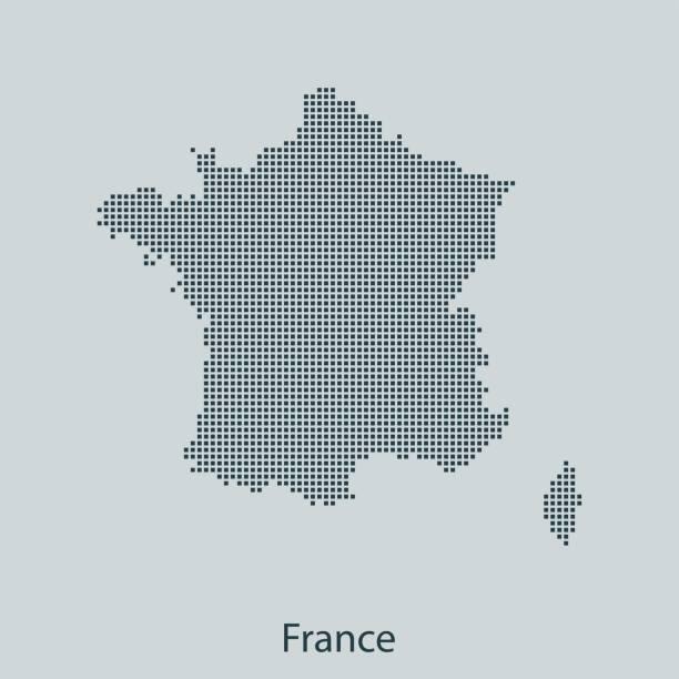 France map – artystyczna grafika wektorowa