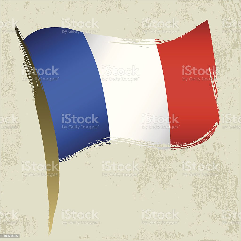 France National Flag royalty-free stock vector art
