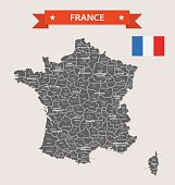 Retro Map of France