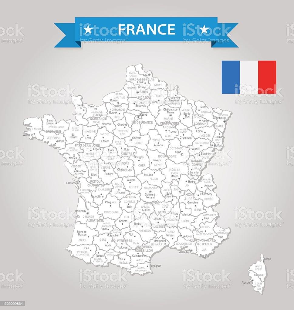 France-old-fashioned carte-Illustration - Illustration vectorielle