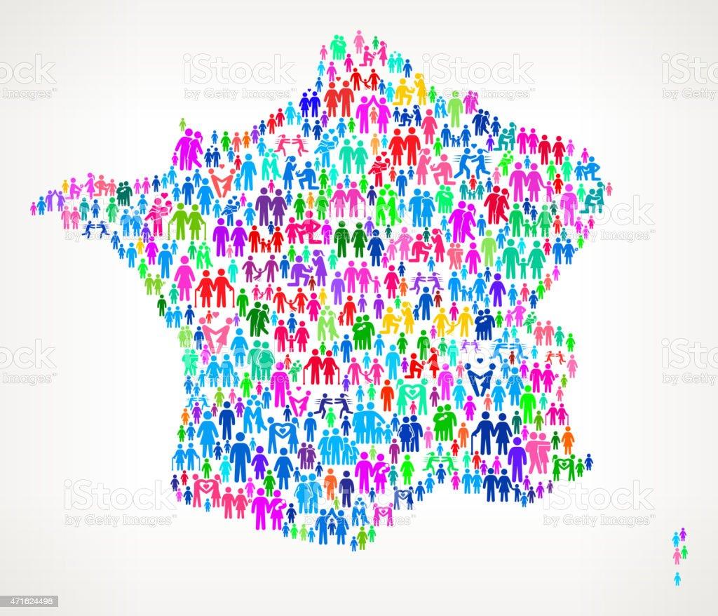 フランスのベクトルパターンの背景に家族 のイラスト素材 471624498