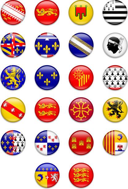 illustrations, cliparts, dessins animés et icônes de bouton drapeau de la france récupération complète - bretagne