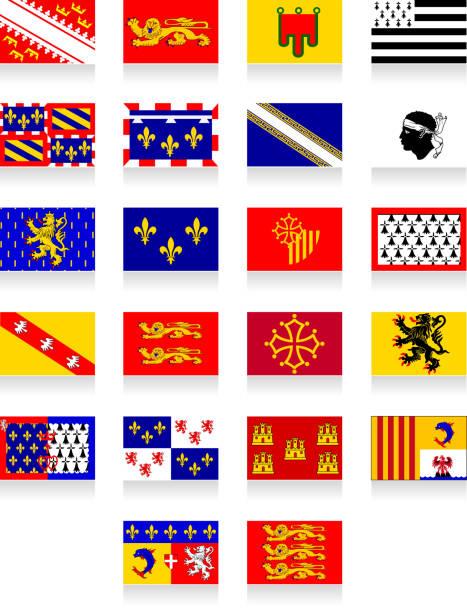 illustrations, cliparts, dessins animés et icônes de la france flags - bretagne
