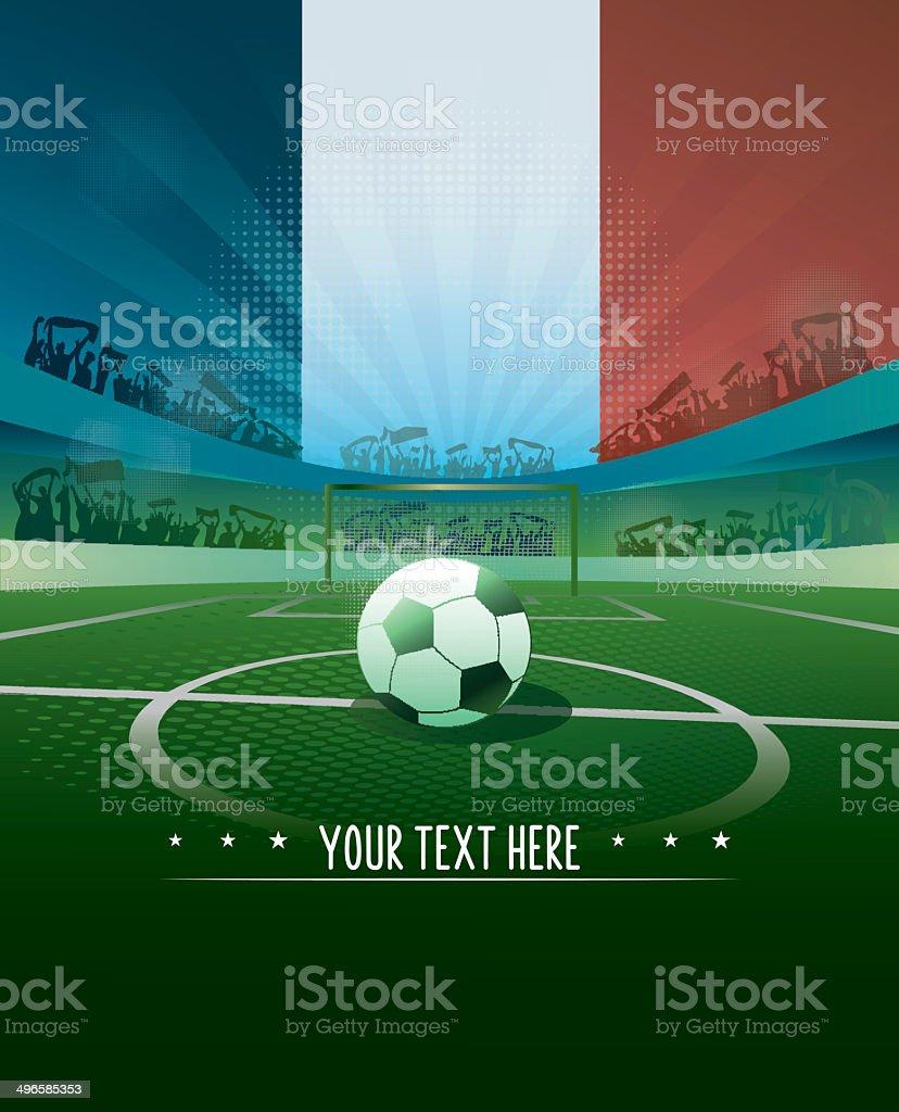 france soccer background vector art illustration