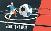 france soccer field illustration on chalkboard