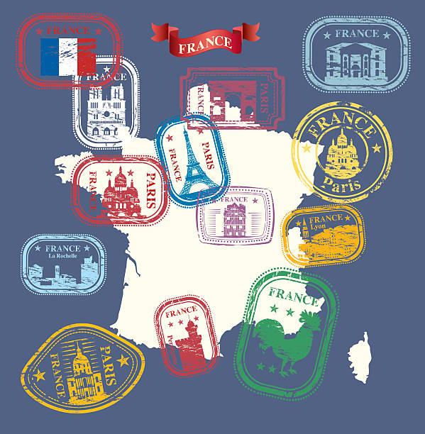 illustrations, cliparts, dessins animés et icônes de timbre france - nantes