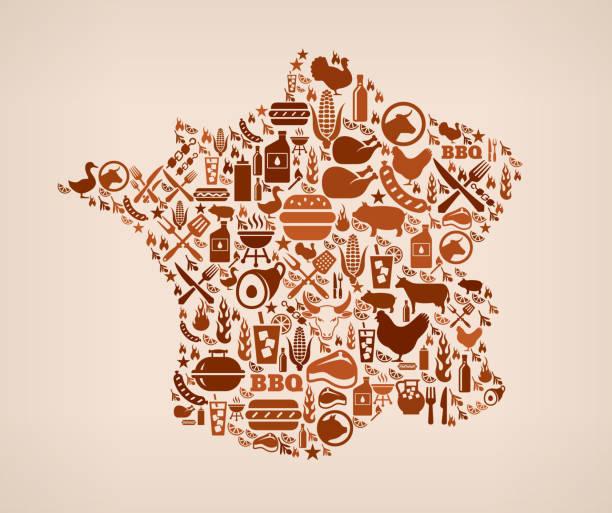 フランスの夏のバーベキューに招待状のベクトルの背景 - 親族会点のイラスト素材/クリップアート素材/マンガ素材/アイコン素材