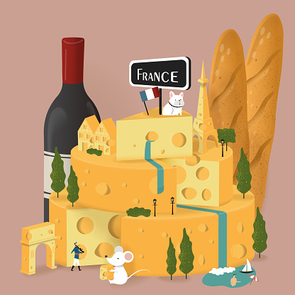 French food stock illustrations