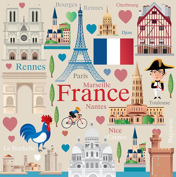フランスの旅行 - フランス料理点のイラスト素材/クリップアート素材/マンガ素材/アイコン素材