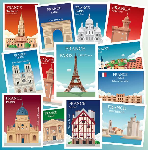 illustrazioni stock, clip art, cartoni animati e icone di tendenza di francia viaggi - monte bianco
