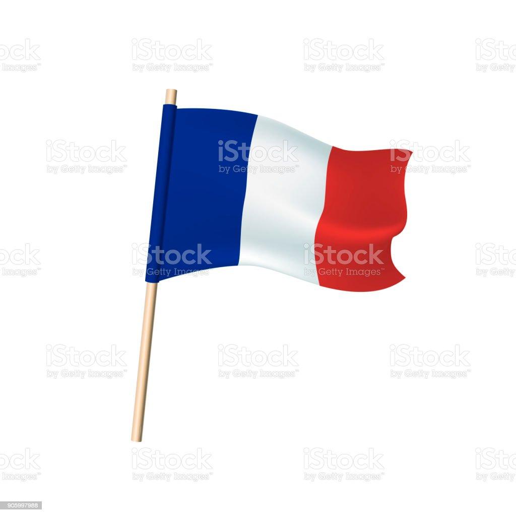 Frankreich Trikolore Auf Weißem Hintergrund Stock Vektor Art und ...