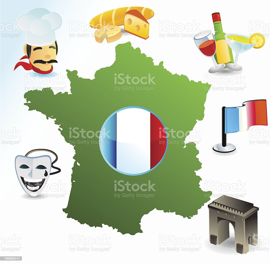 France vector art illustration