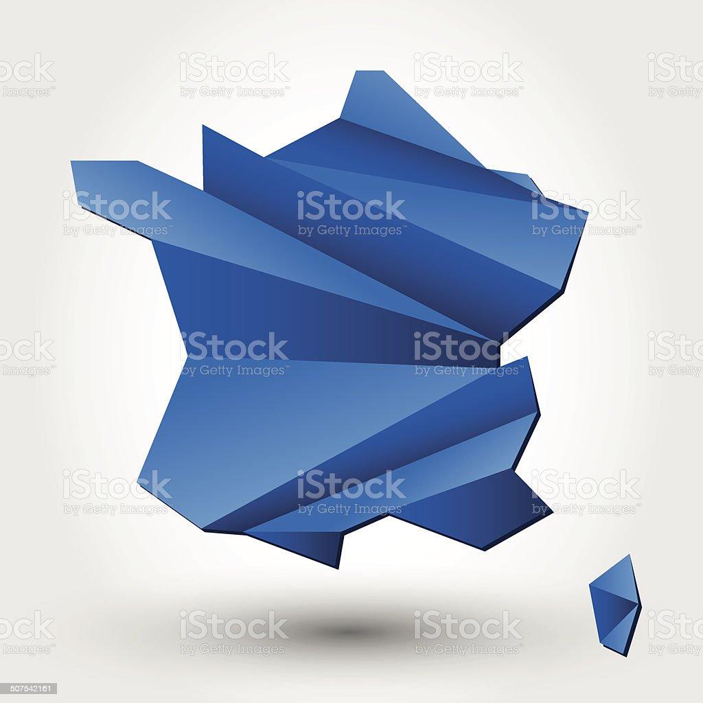 France vector art illustration