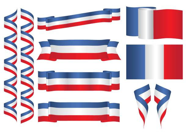 ilustraciones, imágenes clip art, dibujos animados e iconos de stock de francia - bandera francesa
