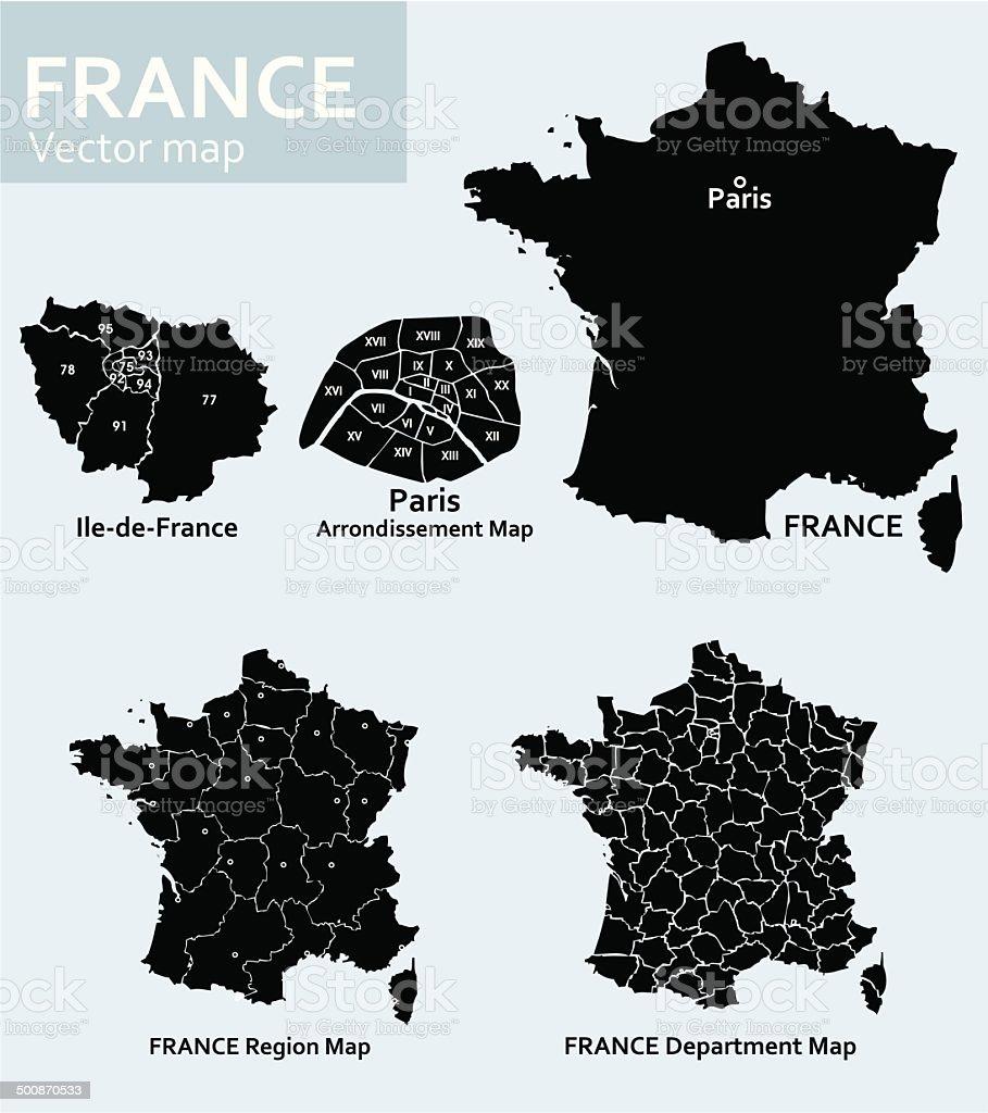 France-vector map