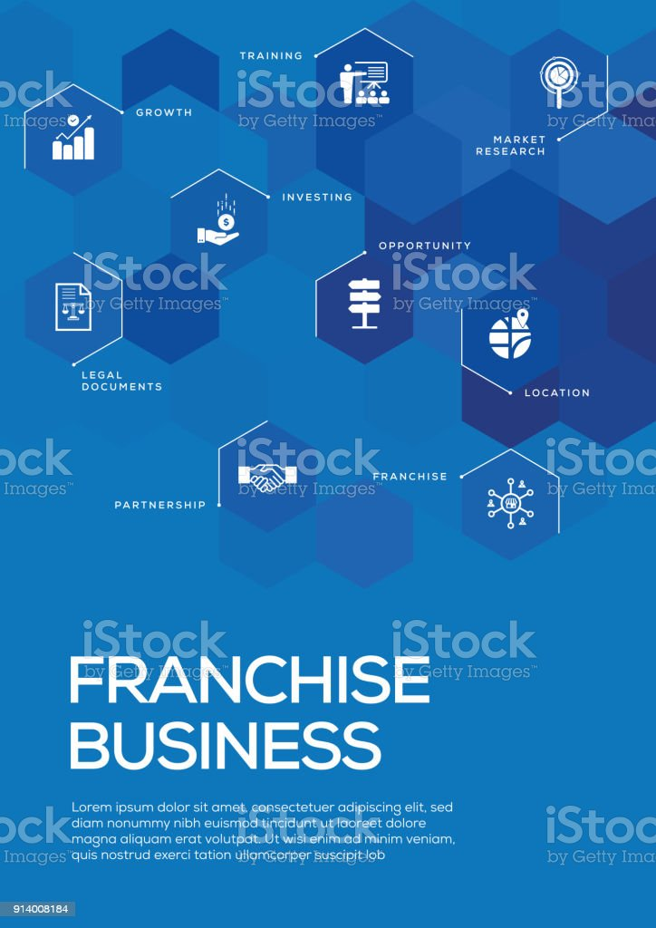 franchise business brochure template layout cover design stock