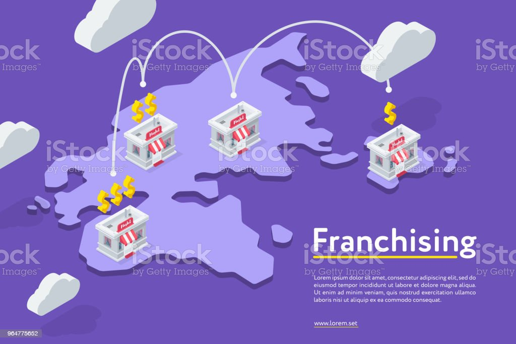 Franchising chains store on purple royalty-free franchising chains store on purple stock vector art & more images of administrator