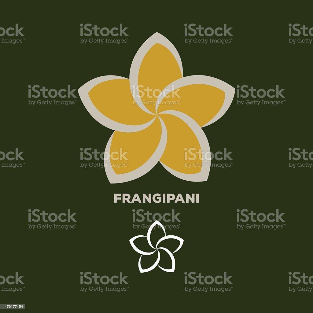 frangipani flower logo vector vector art illustration