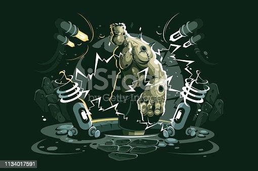 istock Frankenstein cartoon character 1134017591