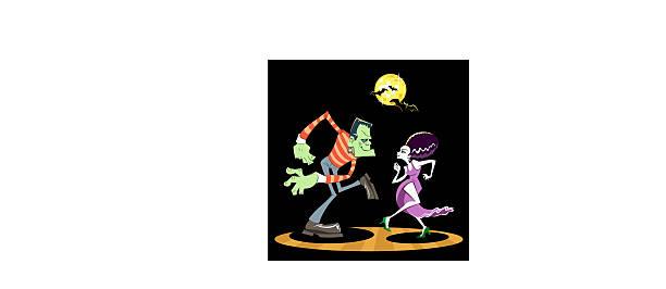 b09a830bb95 Frankenstein Dance vector art illustration