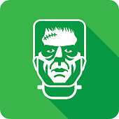 istock Frankenstein Face Silhouette 1278862592