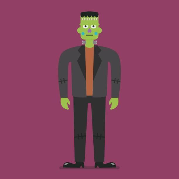 frankenstein halloween charakter - frankenstein stock-grafiken, -clipart, -cartoons und -symbole