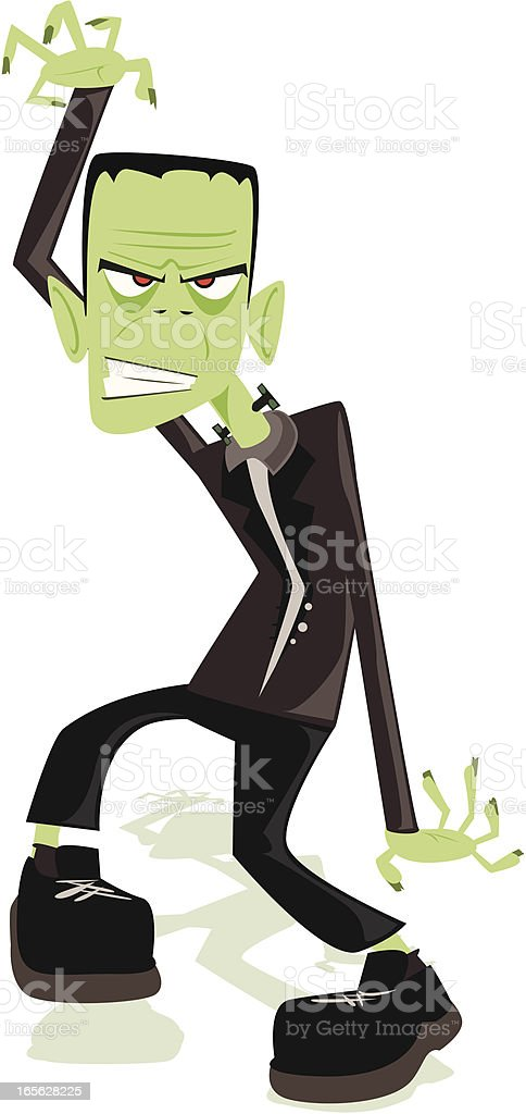 Frankenstein Monster Cartoon vector art illustration
