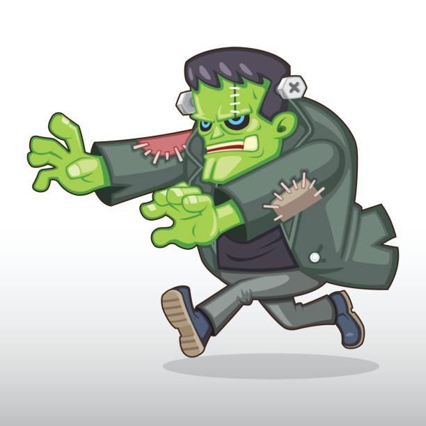 frankenstein-monster-illustration - frankenstein stock-grafiken, -clipart, -cartoons und -symbole