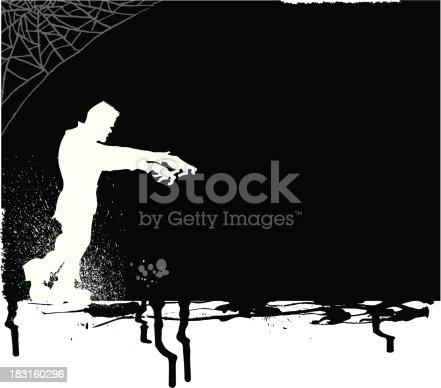istock Frankenstein Monster Trick or Treat Background 183160296