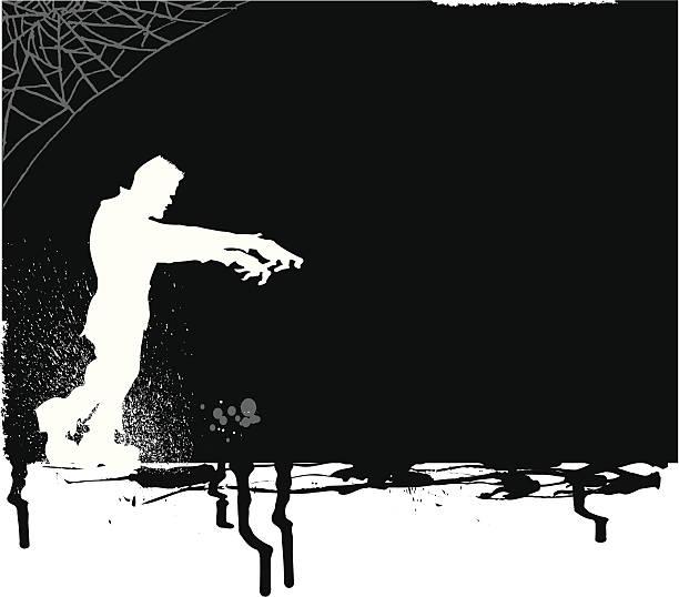 frankenstein monster süßes oder saures-halloweenspruch hintergrund - frankenstein stock-grafiken, -clipart, -cartoons und -symbole