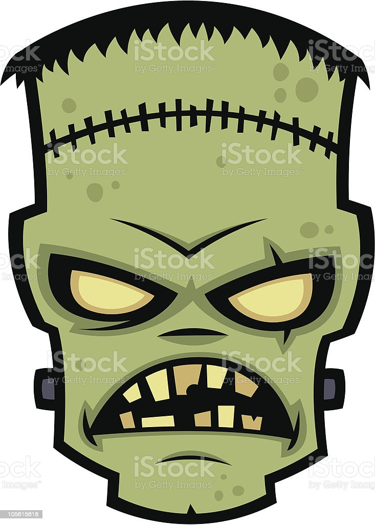 Frankenstein Monster vector art illustration