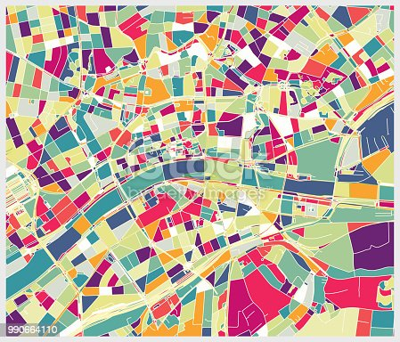 Frankfurt city art map