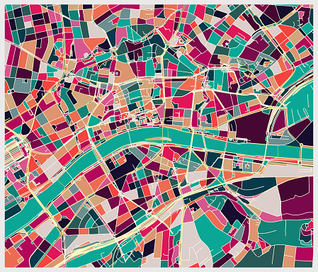Frankfurt city art map