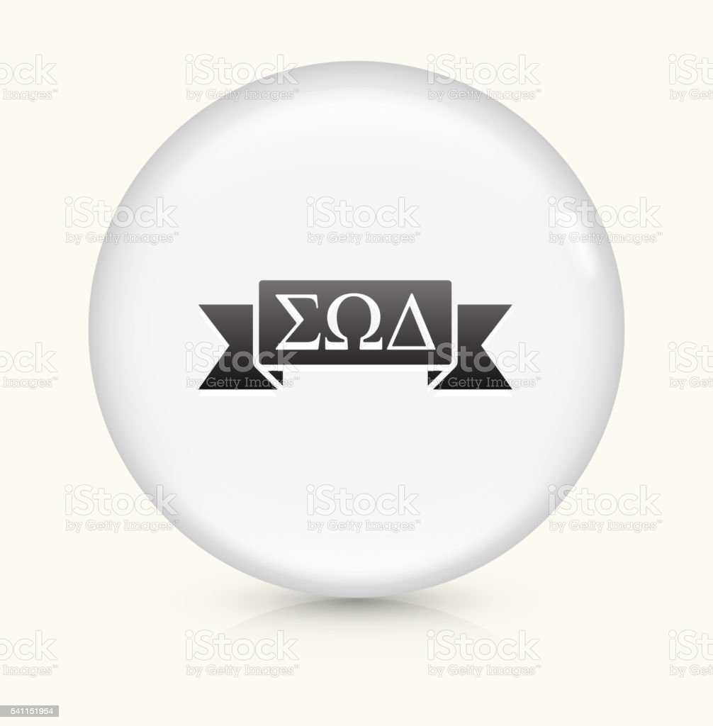 Fraternity Ribbon Icon On White Round Vector Button Stock