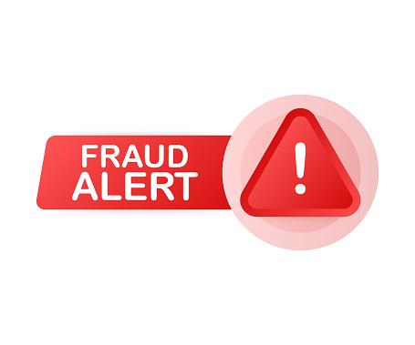 Fraud alert. Security Audit, Virus Scanning, Cleaning, Eliminating Malware, Ransomware. Vector illustration.
