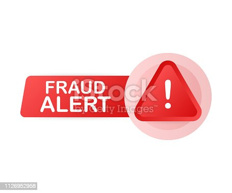 Fraud alert. Security Audit, Virus Scanning, Cleaning, Eliminating Malware, Ransomware. Vector stock illustration.