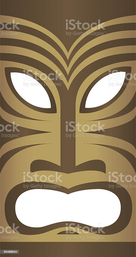 Freaky Tiki royalty-free stock vector art