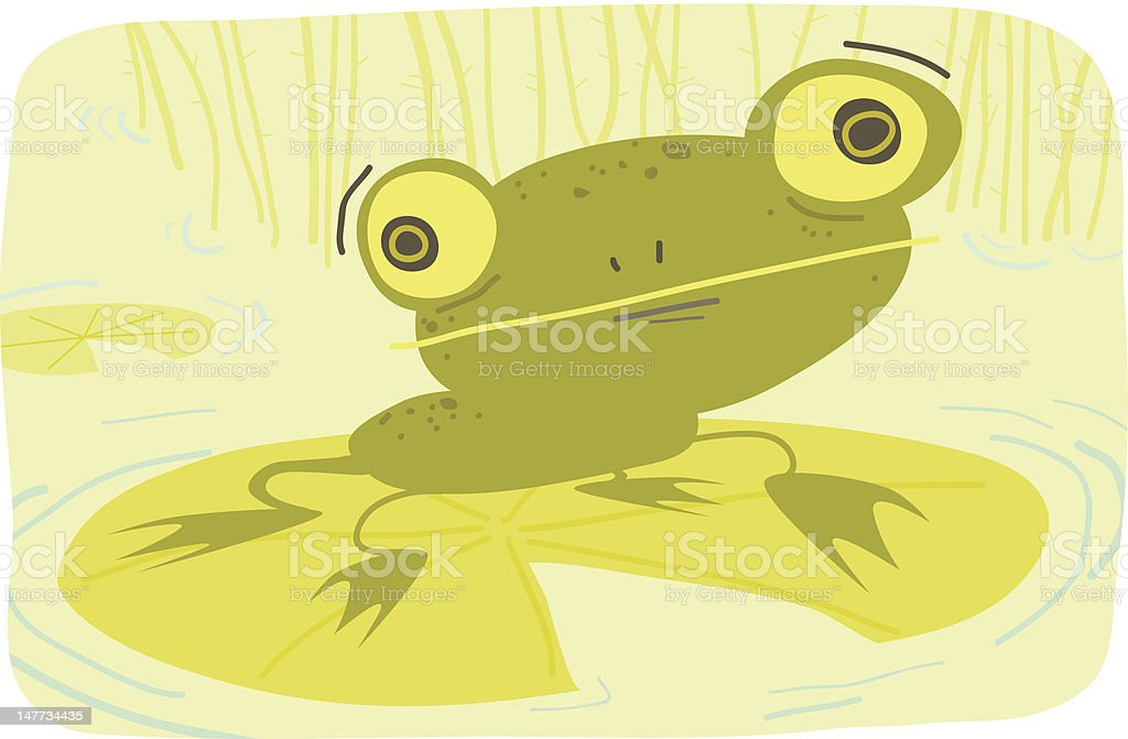 Freddy Froggy royalty-free stock vector art