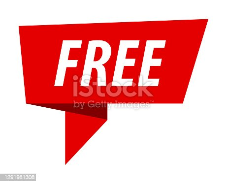 istock Free - Banner, Speech Bubble, Label, Ribbon Template. Vector Stock Illustration 1291981308