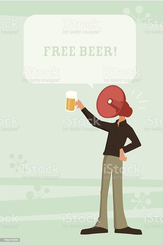 Free Beer! vector art illustration
