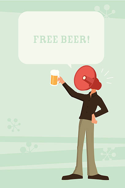 free beer! - office party stock illustrations, clip art, cartoons, & icons